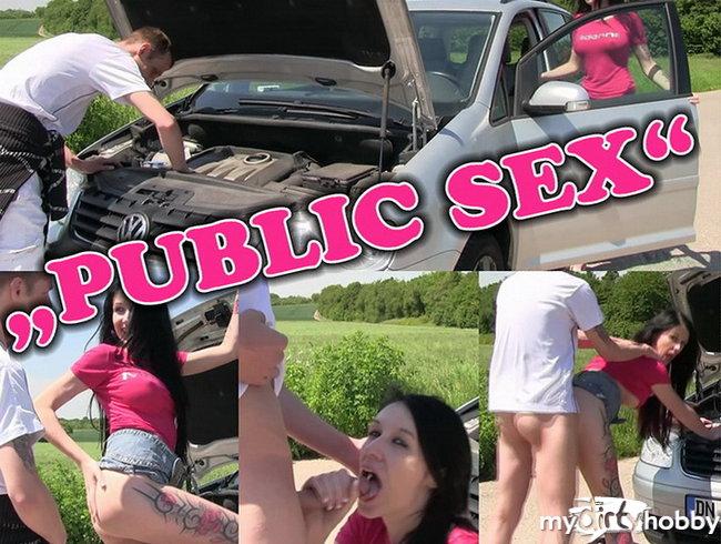 Autopanne! Public Fick als Dankeschön